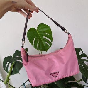 Prada Tessuto Pink Nylon Mini Purse